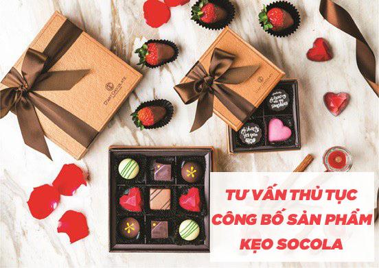 tư vấn thủ tục công bố sản phẩm kẹo socola
