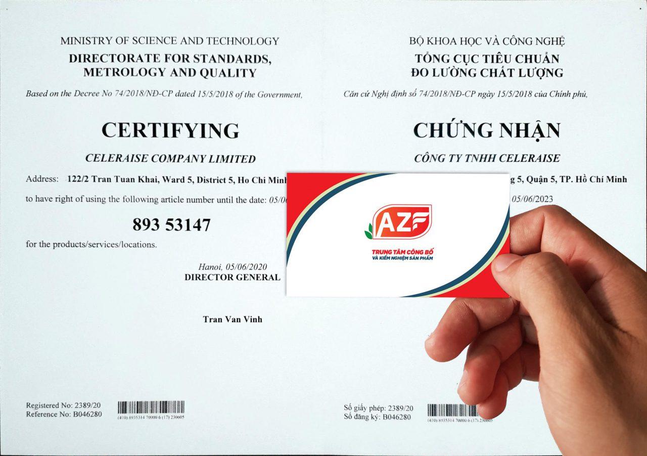 Mẫu giấy chứng nhận đăng ký mã số mã vạch tại AZF - 093.111.9336