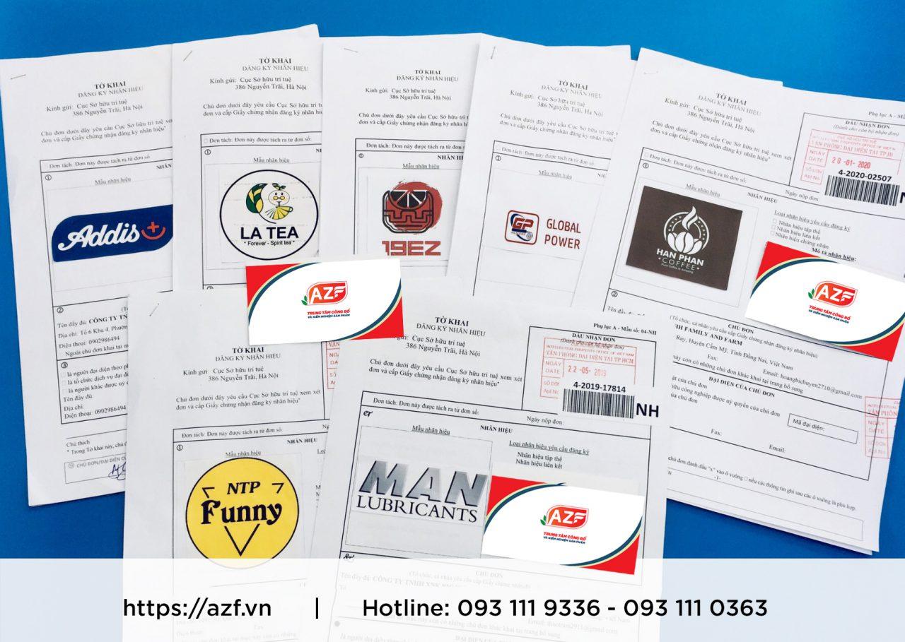 Mẫu giấy chứng nhận AZF đã thực hiện cho khách hàng