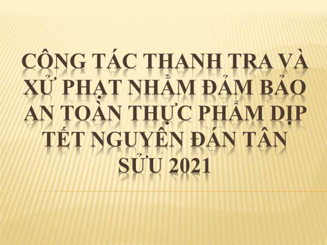 THANH TRA VÀ XỬ PHẠT 2021